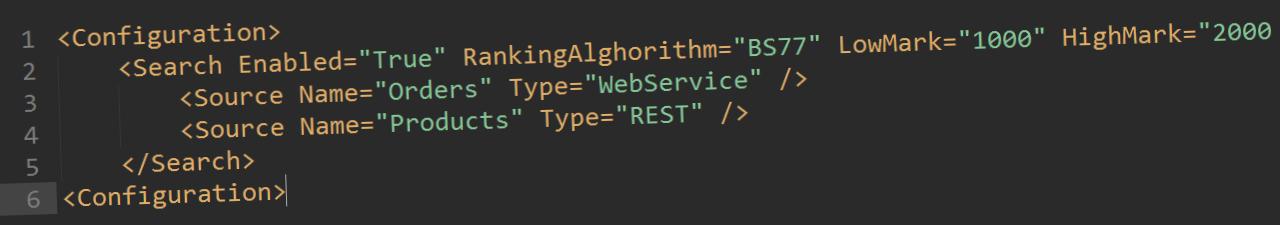 A screenshot of an xml document
